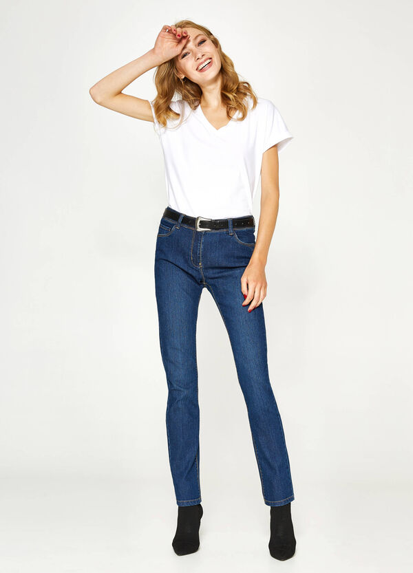 Einfarbige Stretch-Jeans Regular Fit | OVS