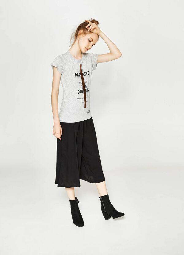 T-Shirt aus reiner Baumwolle mit Aufdruck | OVS