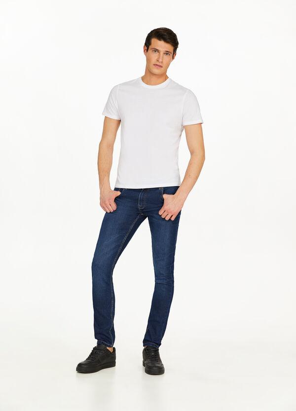 Stretch-Jeans Super Skinny Fit entfärbte Optik