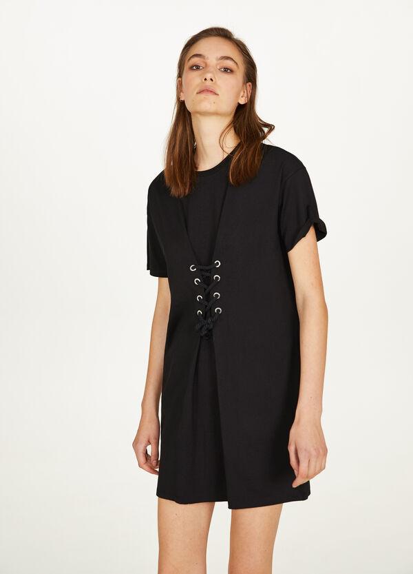 Kleid reine Baumwolle Nieten und Kordel