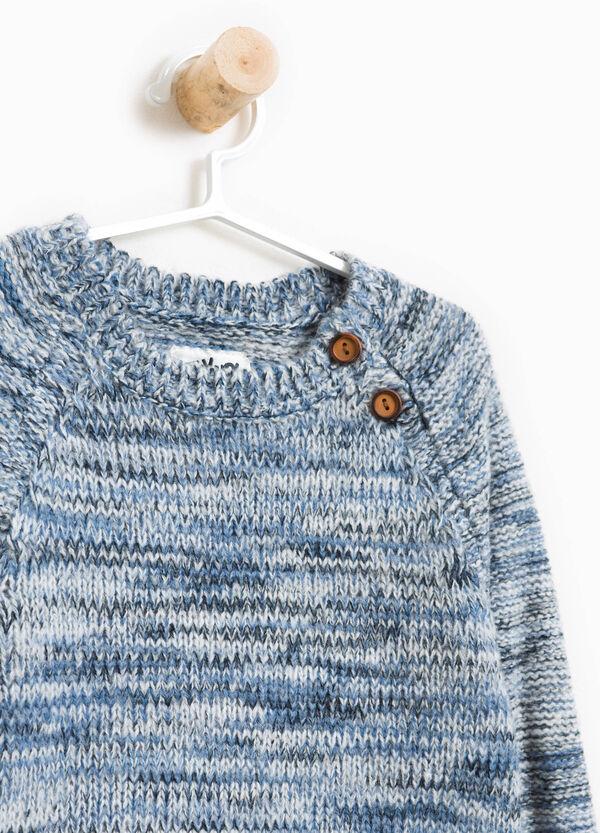 Pullover meliert Trikot mit Knöpfen | OVS