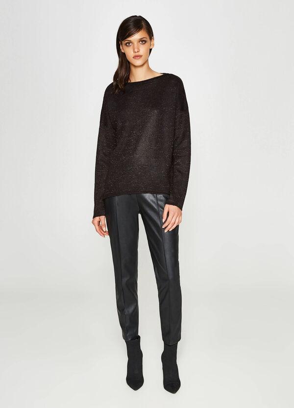Pullover Trikot Fledermaus mit Lurex | OVS