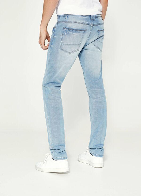 Stretch-Jeans Skinny mit entfärbter Optik | OVS
