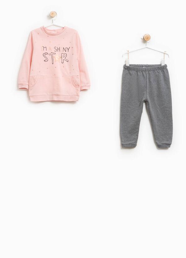 Pyjama Better Cotton Glitter-Aufdruck