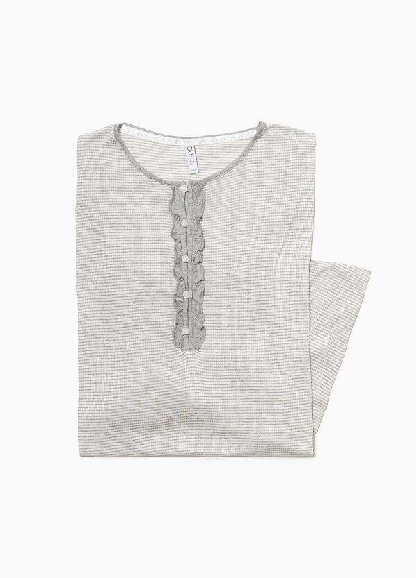 Nachthemd Viskose kleinkariert