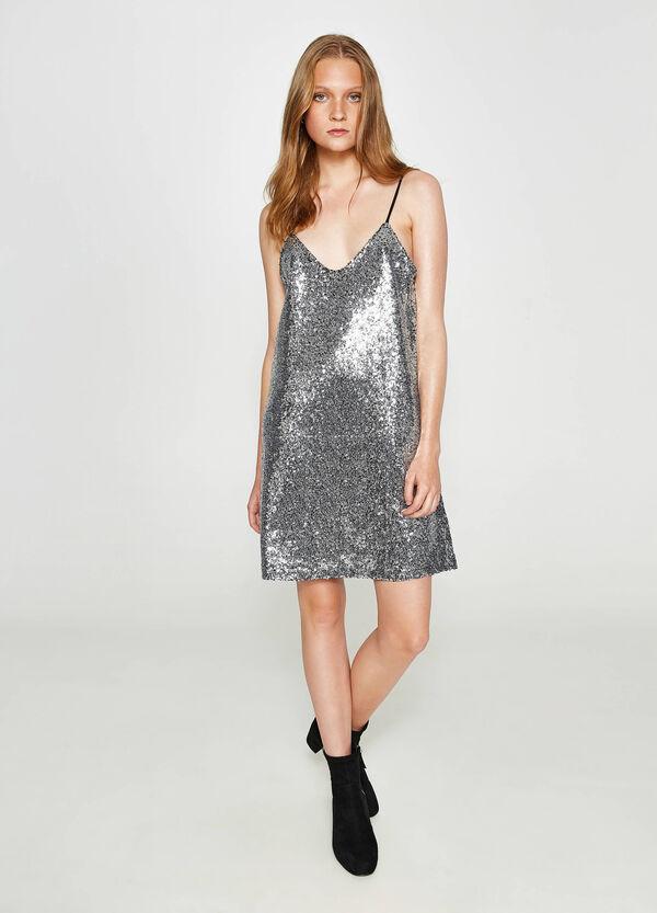 Kleid reine Baumwolle mit Pailletten | OVS