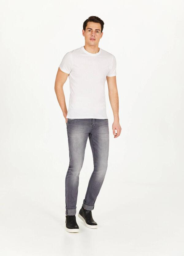 Stretch-Jeans Skinny Fit entfärbte Optik