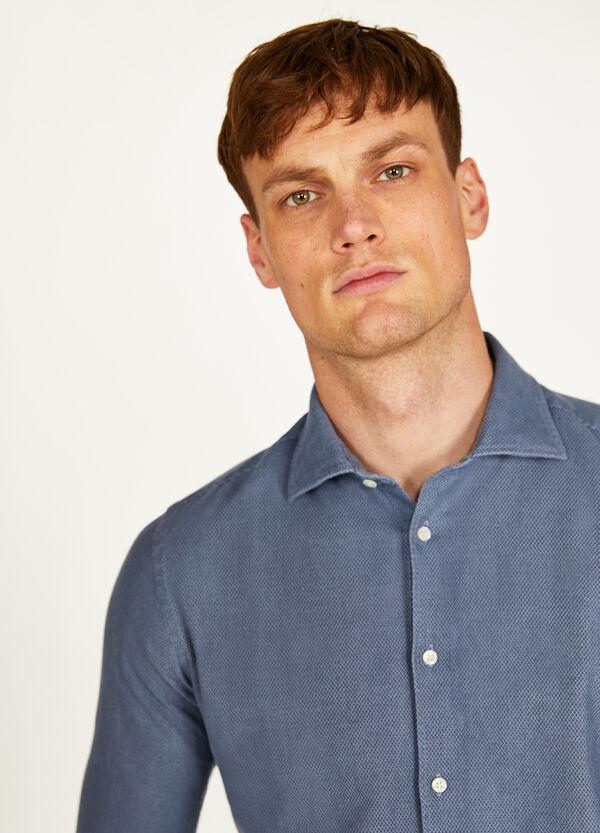 Einfarbiges Hemd Rumford aus Baumwolle