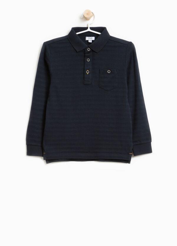 Polo-Shirt reine Baumwolle mit Streifenstruktur | OVS