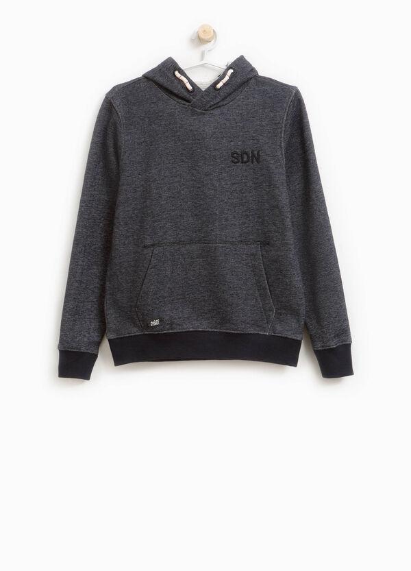 Sweatshirt aus reiner Baumwolle meliert mit Stickerei | OVS