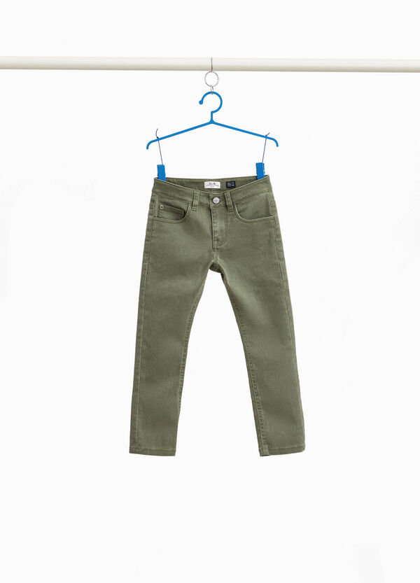 Hose Slim Fit Baumwollstretch-Mix