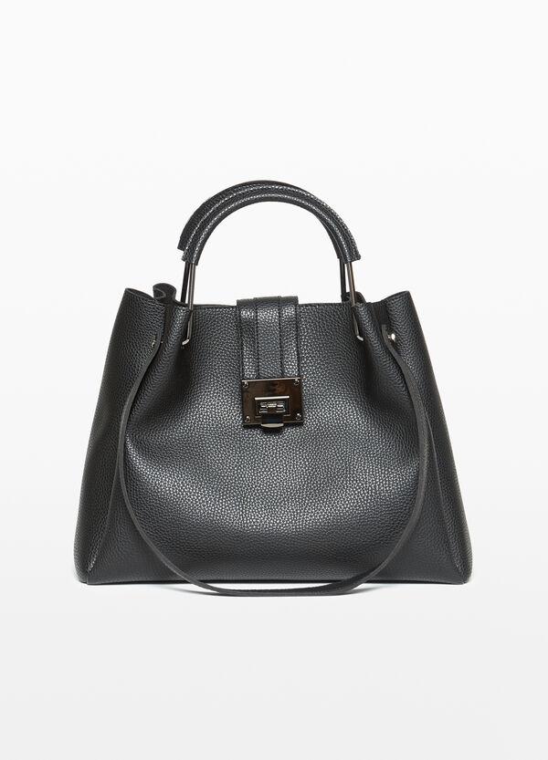 Handtasche mit Metall-Verschluss