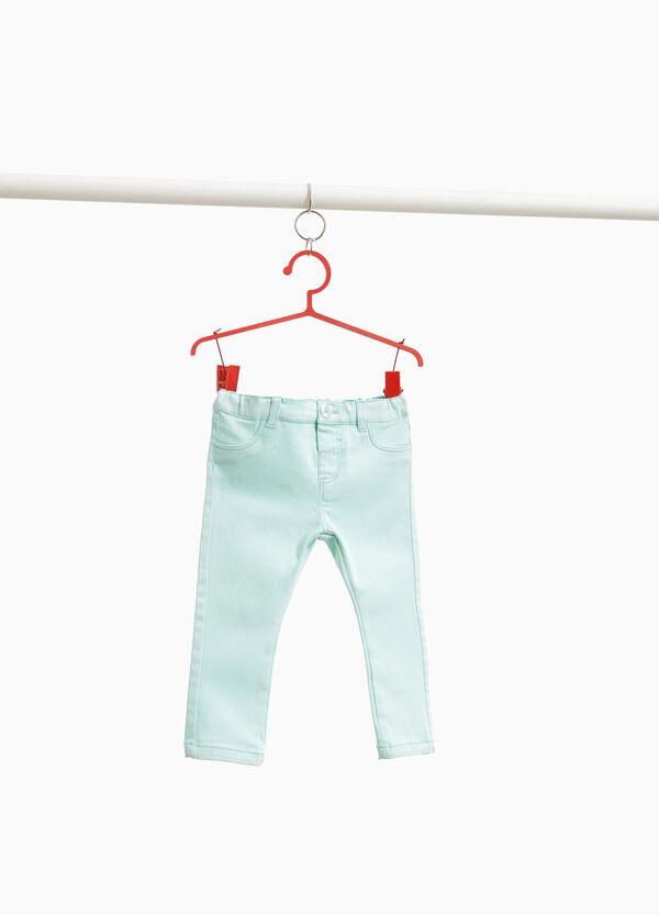 Einfarbige Hose aus Baumwolle
