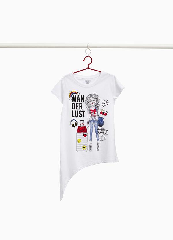 T-Shirt Baumwolle Maxi-Aufdruck Girl