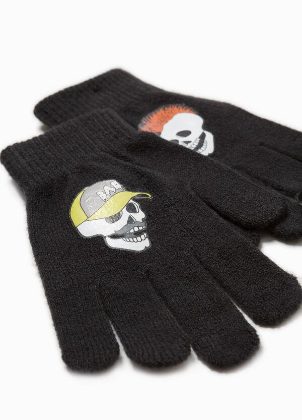 Handschuhe Trikot Aufdruck Totenköpfe | OVS