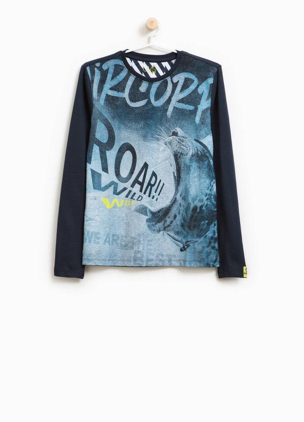 T-Shirt aus Baumwolle Maxi-Aufdruck | OVS