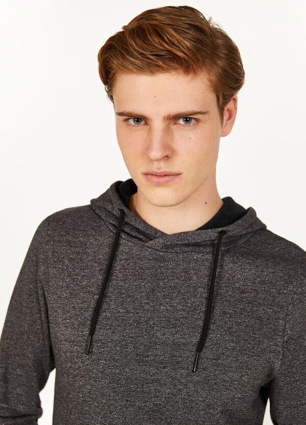 Sweatshirt melierter Baumwollmix