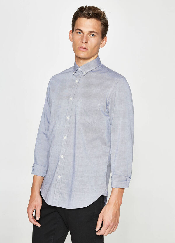 Casual-Hemd Regular Fit aus reiner Baumwolle | OVS