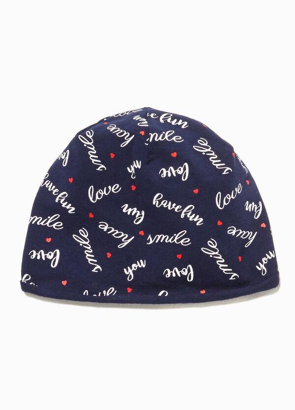 Mütze aus Jersey Lettering