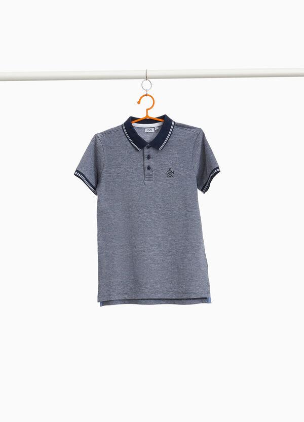 Polo-Shirt aus reiner Baumwolle mit Stickerei