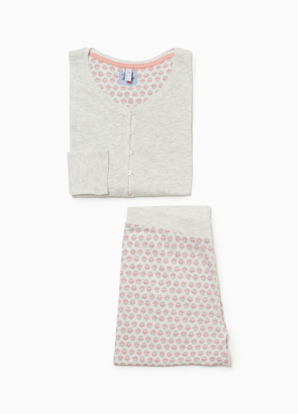 Pyjama Baumwolle und Viskose Muster