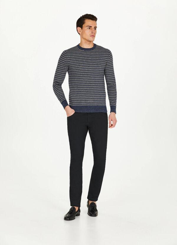 Pullover reine Baumwolle mit Streifenmuster
