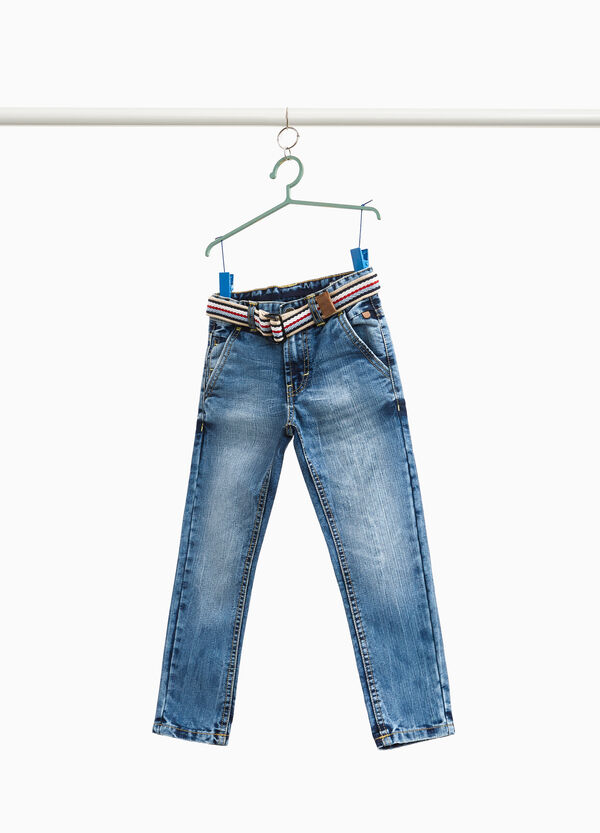 Jeans Effekt-Färbung mit Taschen