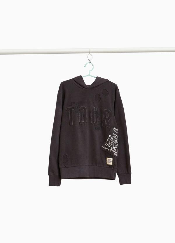 Sweatshirt reine Baumwolle mit Destroyed-Elementen