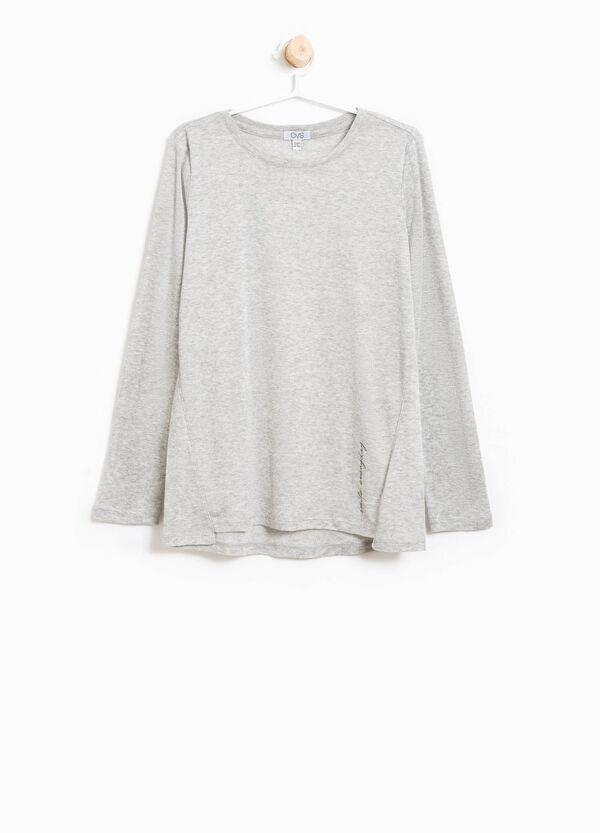 T-Shirt aus Viskose mit Lurex bedruckt | OVS