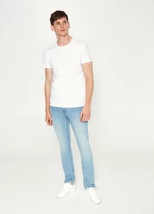 Jeans Straight Fit mit Washed-tut-Effekt