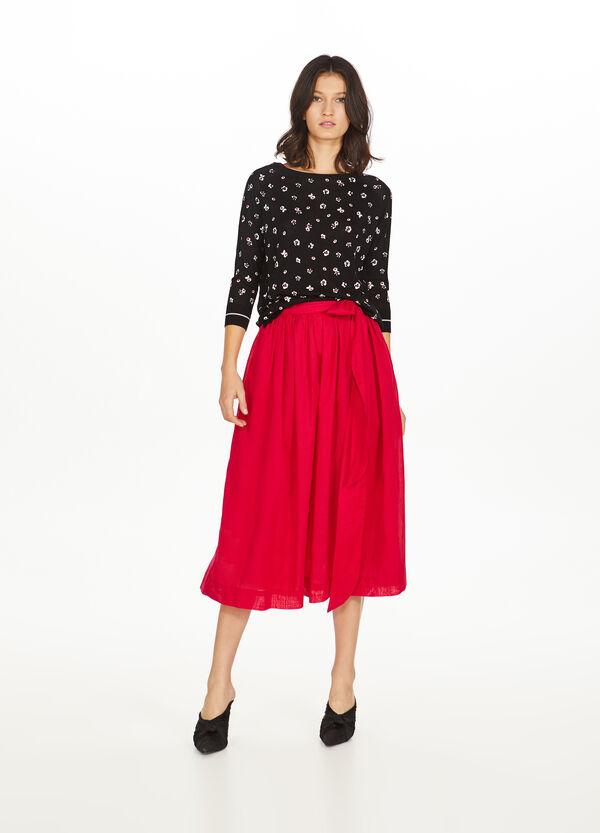 Pullover reine Viskose Blumen