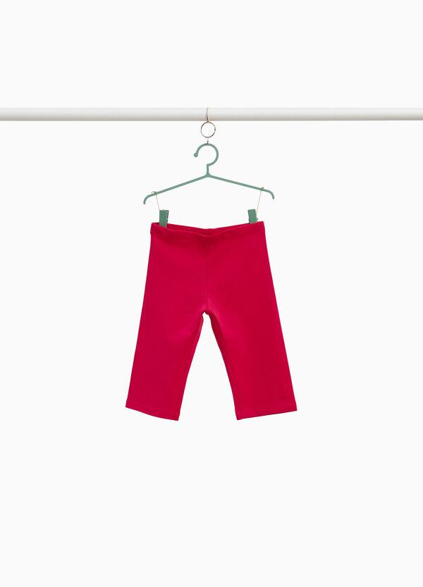 Einfarbige Leggings aus Baumwollstretch
