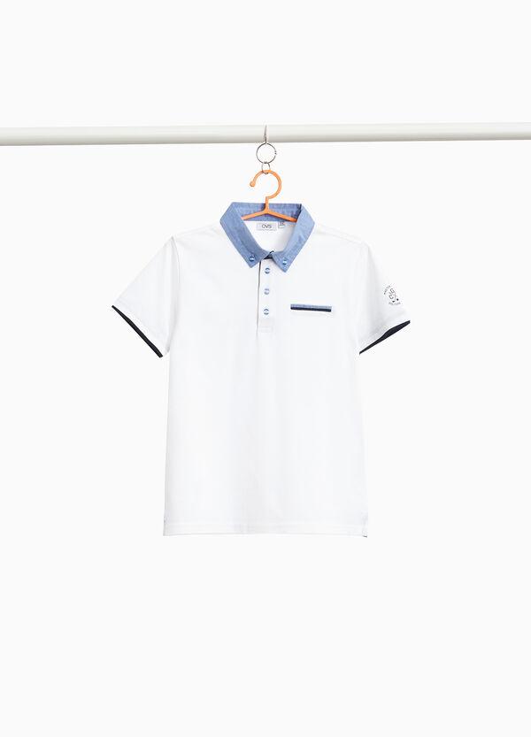 Polo-Shirt Baumwollstretch mit Aufdruck