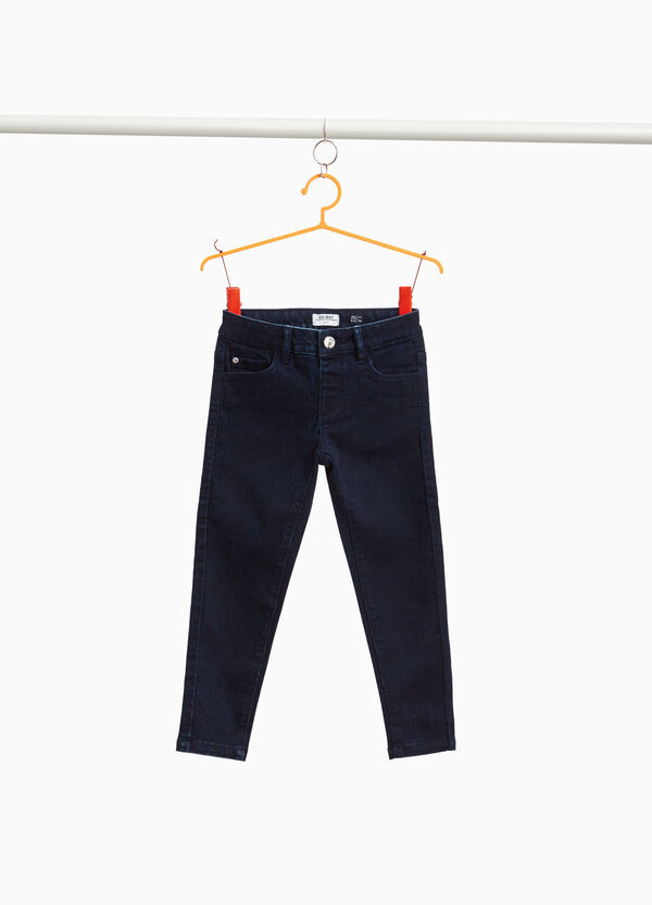 Einfarbige Stretch-Jeans