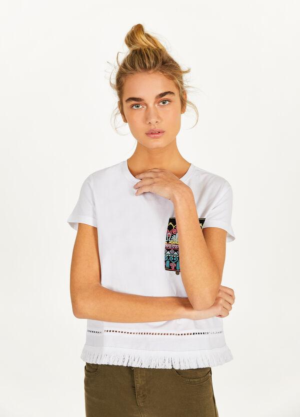 T-Shirt reine Baumwolle mit Stickerei