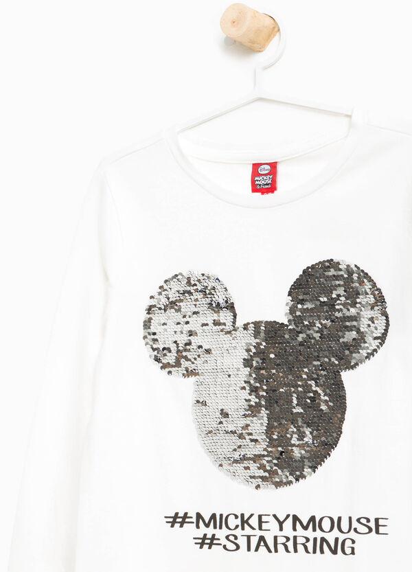 T-Shirt Baumwolle Mickey Mouse mit Pailletten | OVS