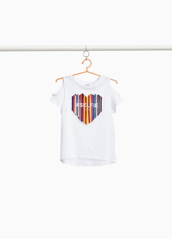 T-Shirt reine Baumwolle mit Öffnung