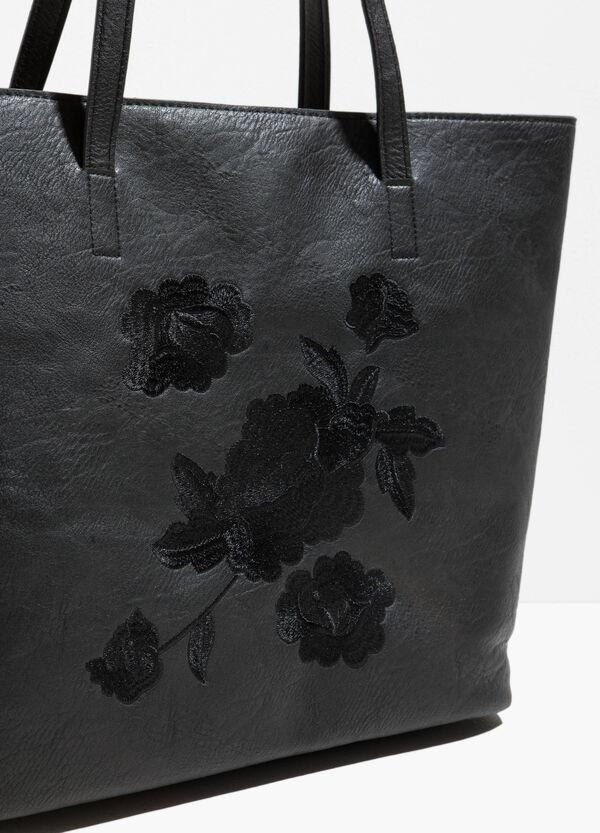 Shopping Bag Hammerschlag-Effekt und Stickerei | OVS