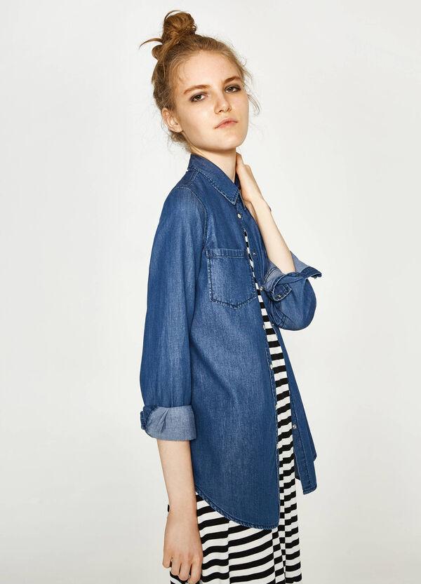 Jeans-Hemd mit kleinen Taschen   OVS