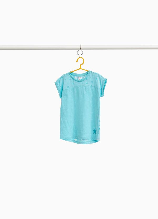 T-Shirt reine Baumwolle Sternmuster