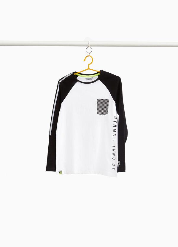Sweatshirt aus Baumwolle mit Tasche und Aufdruck