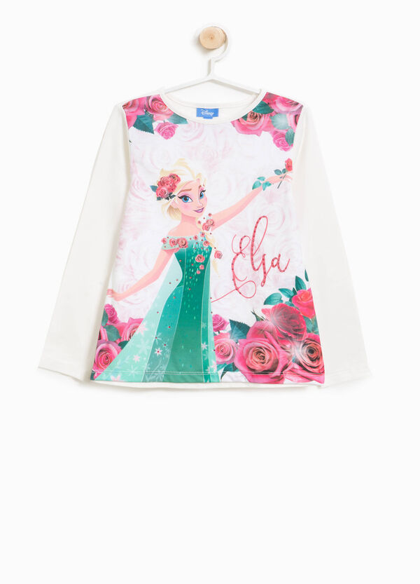 T-Shirt Baumwollstretch Aufdruck Eiskönigin   OVS