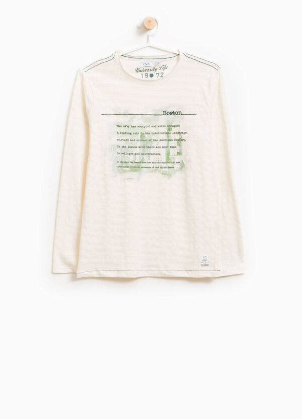 T-Shirt Baumwolle Jacquard Print Lettering | OVS
