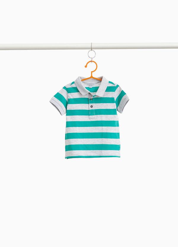 Polo-Shirt aus reiner Baumwolle gestreift