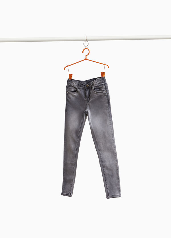 Stretch-Jeans Super Skinny Fit entfärbte Optik
