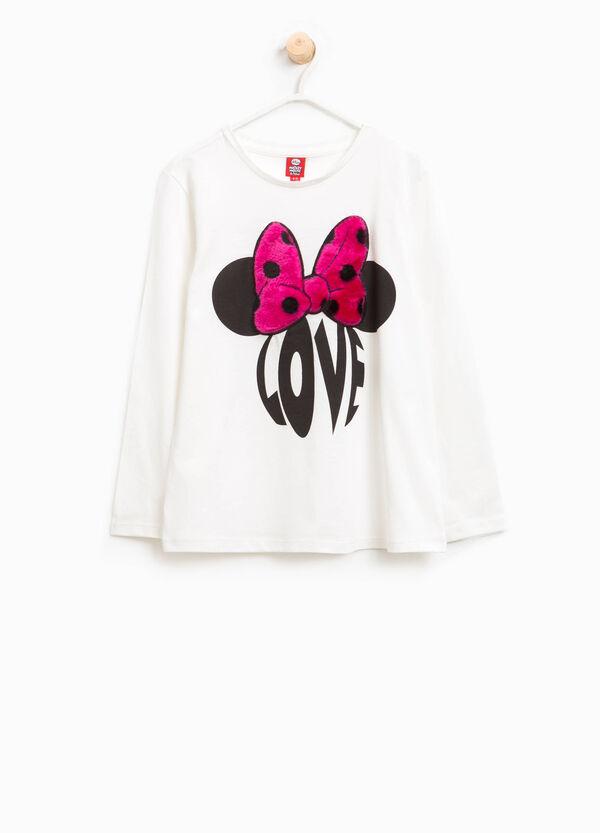 T-Shirt aus Baumwolle Aufdruck Minnie | OVS