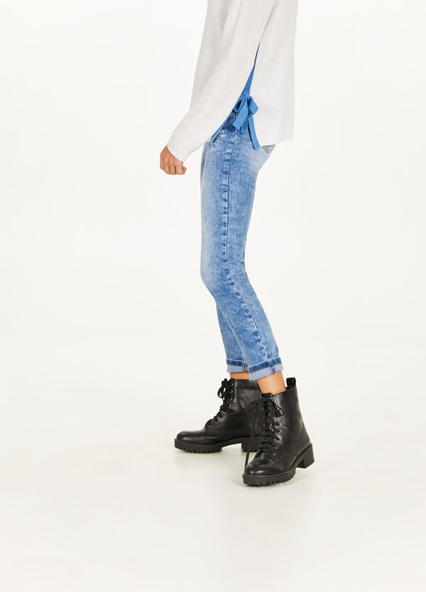 Jeans Skinny Fit Stretch mit Stickerei