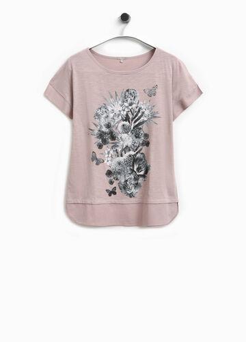 T-Shirt mit Blumendruck Smart Basic