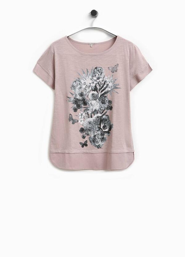 T-Shirt mit Blumendruck Smart Basic | OVS