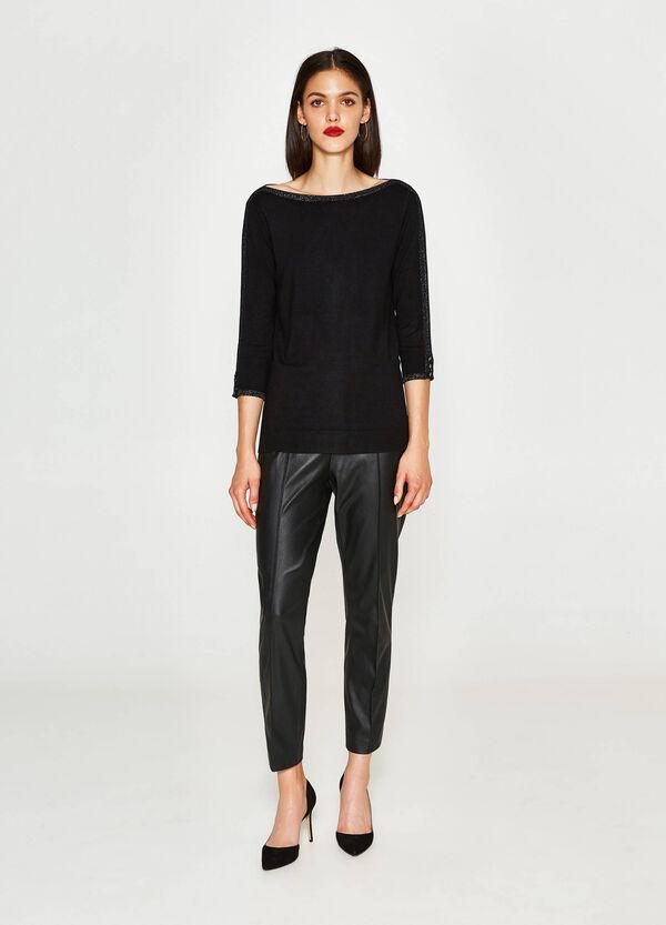 Pullover aus Viskose mit Glitter-Profilen | OVS